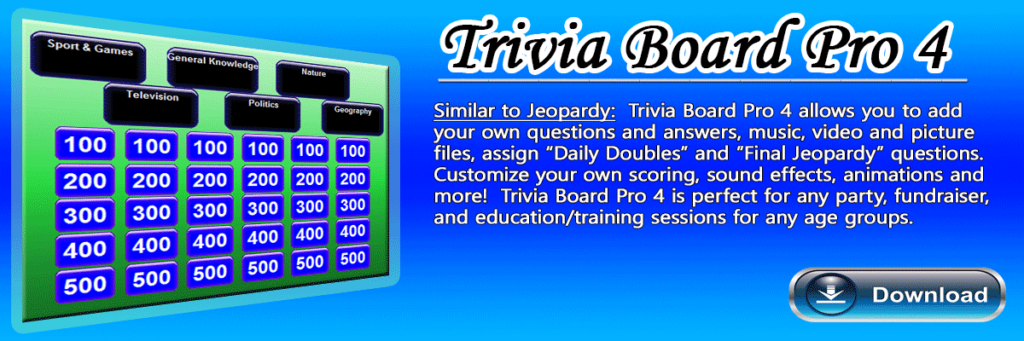 Jeopardy Trivia Game