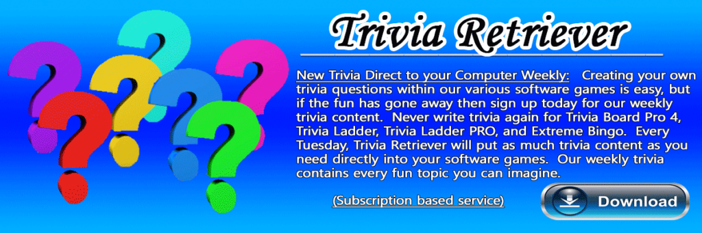 Subscribe to weekly trivia