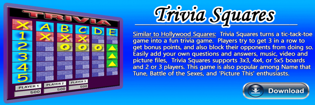 Hollywood Squares Trivia Game