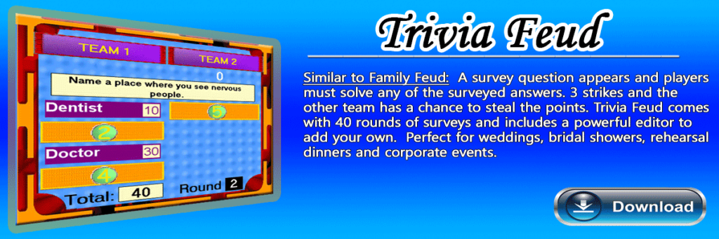 Trivia-Feud Software